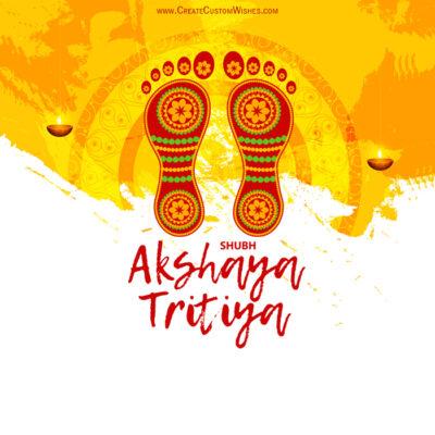 Create Akshaya Tritiya Greetings Card
