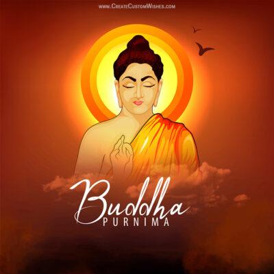 Create Buddha Purnima Greetings Card
