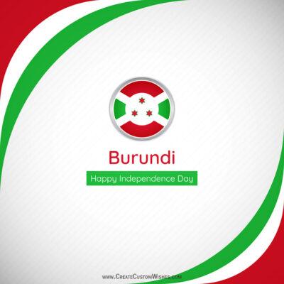 Create Burundi Independence Day with Name