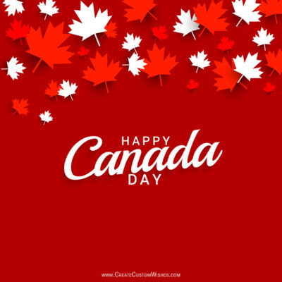 Free Create Canada Day Greeting Cards