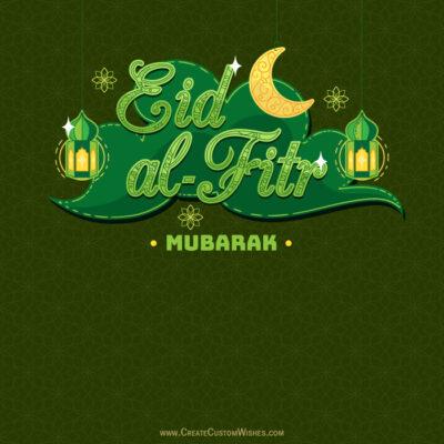 Create Eid al-Fitr Greetings Card