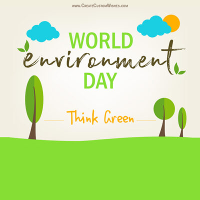 Create Environment Day Wishes for Company