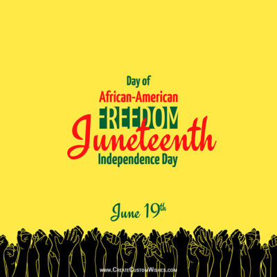 Create Juneteenth with Name Greeting Card