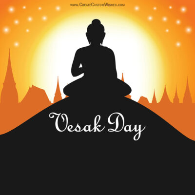 Create Vesak Day with Name Greeting