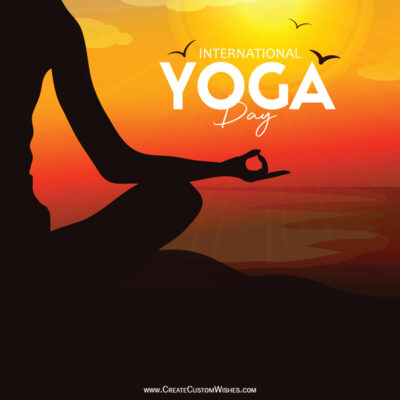Create Yoga Day Wishes Image for Company