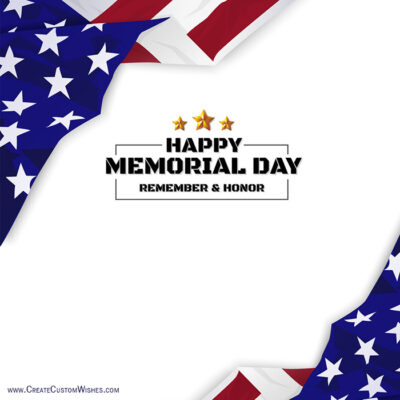 Create a Memorial Day Greeting Cards