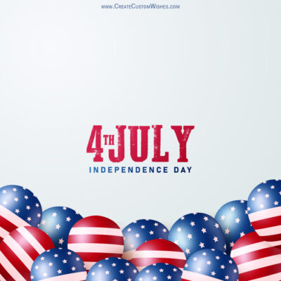 Create fourth of july (USA) with Name
