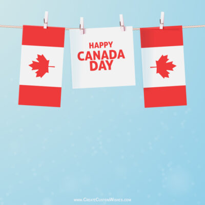 Customized Canada Day Wishes card