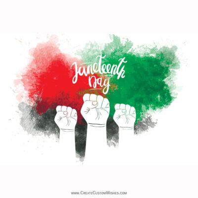 Customized Juneteenth Day of Freedom Image