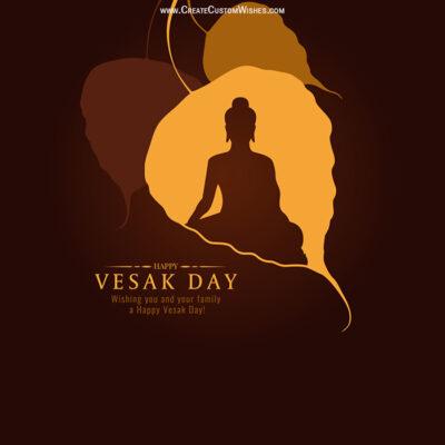 Customized Vesak Day Greetings Card