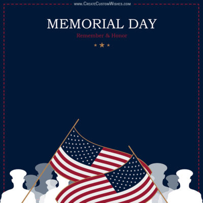 Editable Memorial Day Design, Templates