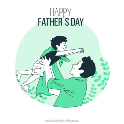 Father and Son - Father's Day Wishes Image
