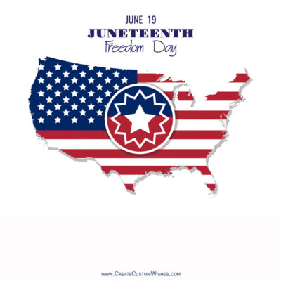 Free Personalize Juneteenth Wishes Images