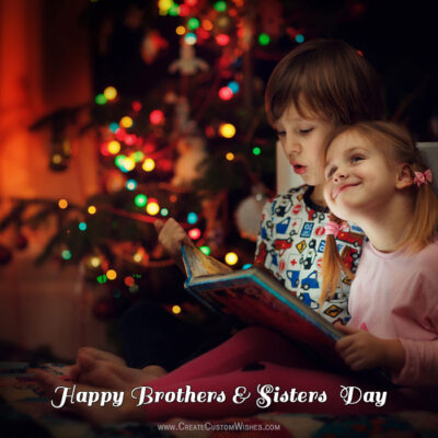 Free Greeting Cards for Brothers and Sisters Day 2021