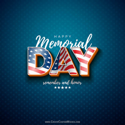 Memorial Day Greeting Cards for USA