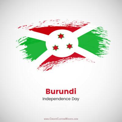 Personalize Burundi Independence Day Greetings