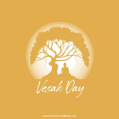 Personalized Vesak Day Greeting Card