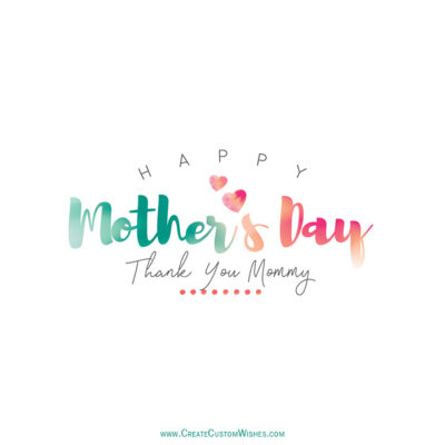 Thank you MOM - Mother's Day Greeting