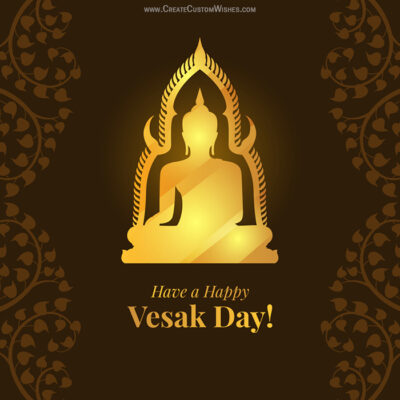 Vesak Day with Name Greeting Image