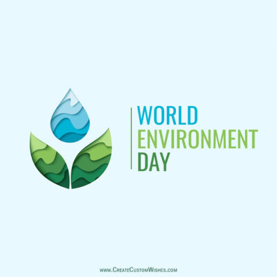 Write Name & Text on Environment Day Image