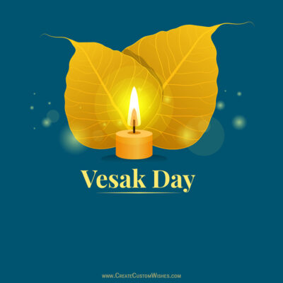 Write Name on Vesak Day Greetings