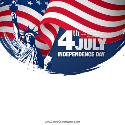 Write Text, Quote on Fourth of july Image