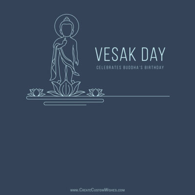 Write Text, Quote on Vesak Day Image
