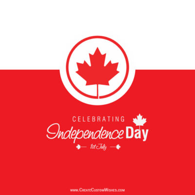 Write Text on Happy Canada Day Images
