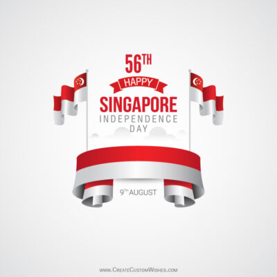 56th Singapore Independence Day Wishes Image