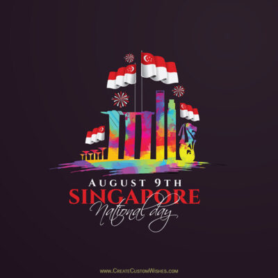 9th August Singapore National Day Card, Image