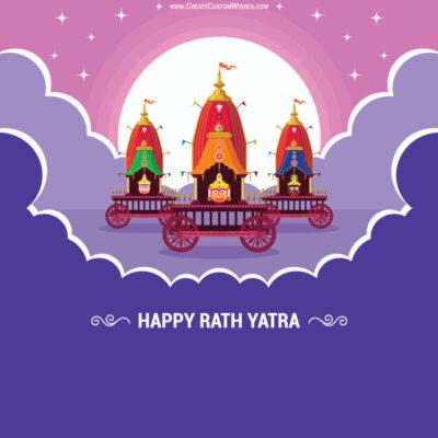 Add Name & Photo on Rath Yatra Greetings