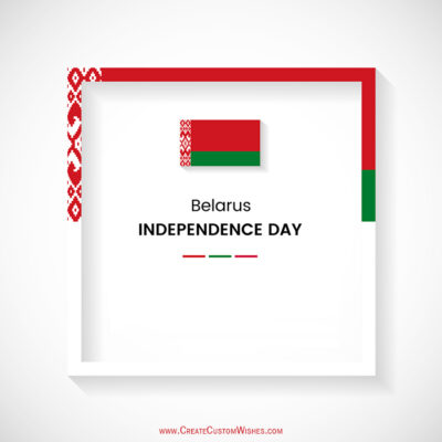 Add Name on Belarus Independence Day Card