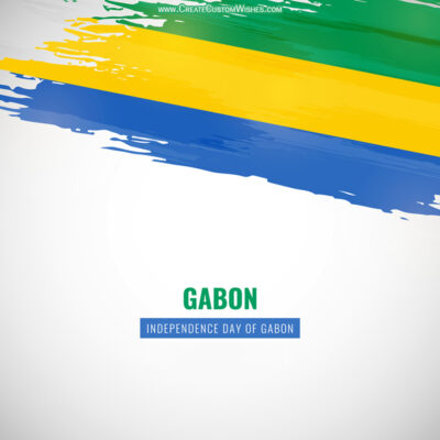 Add Name on Gabon Independence Day Image