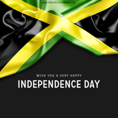 Add Name on Jamaica Independence Day Card