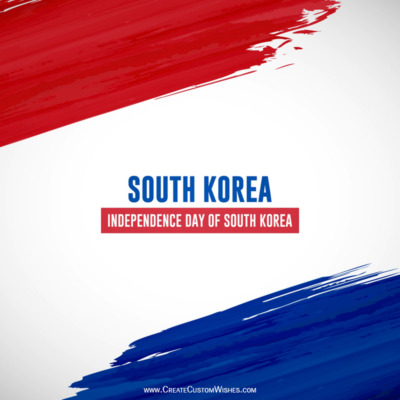 Add Name on National Liberation Day of Korea Wishes Image