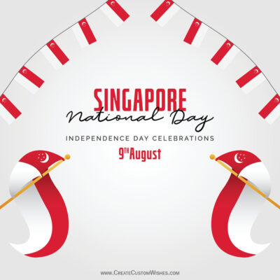 Add Name on Singapore National Day Image