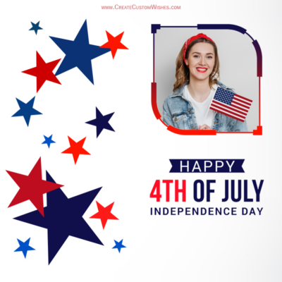 Add Photo on 4th of July Greeting Frame
