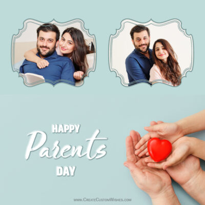 Add Photos on Parents Day Photo Frame 2021