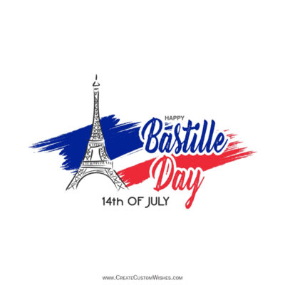 Bastille Day Greetings with Name