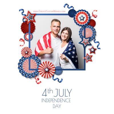 Create 4th of July Card with Photo