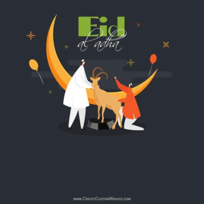 Create Bakrid Mubarak Wishes Image, Greeting Card