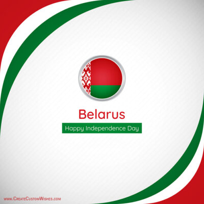 Create Belarus Independence Day with Name