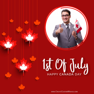 Create Canada Day Card with Photo & Name