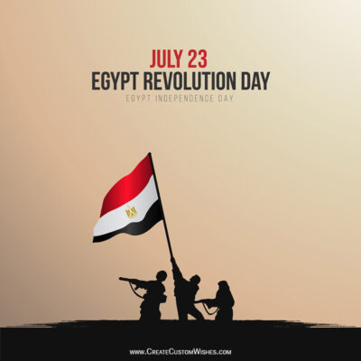 Create Egypt's Revolution Day Greetings