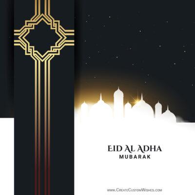 Create Eid al-Adha Mubarak Image for Company