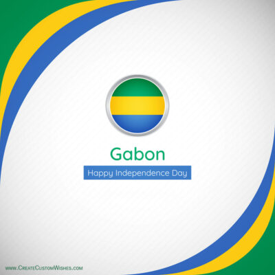 Create Gabon Independence Day Greeting Card