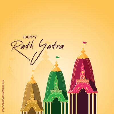 Create Jagnnath Rath Yatra Greeting Card