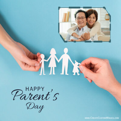 Create Parents Day Greeting with Photo