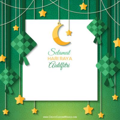 Create a Hari Raya Haji Greeting Card