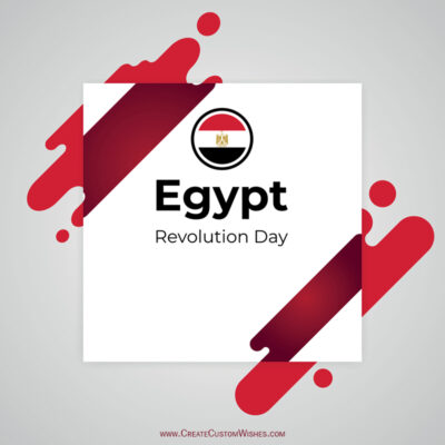 Customize Egypts Revolution Day Wishes Pic